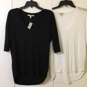 Express One Eleven 2 tops black/white identical XS